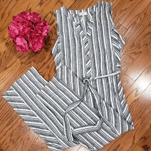 Laundry by Shelli Segal Striped Jumpsuit NWOT